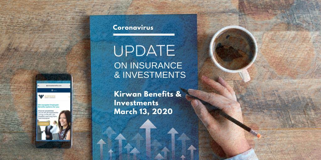 Coronavirus Update: Insurance and Investments